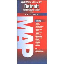 Detroit, North Wayne County, Michigan térkép Rand M