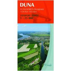 Duna vízitérkép 4. Duna térkép Paulus Dunaújváros-Gemenci-erdő 1:25 000  2015
