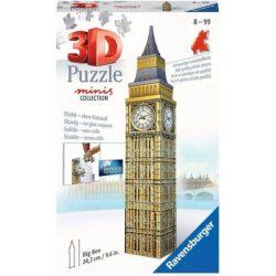 Big Ben puzzle, 3D puzzle Big Ben Cubicfun 47 db-os 12x12x51cm