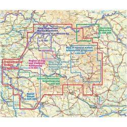 Erdély hegyei áttekintő térképe, Románia turista térképek