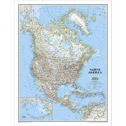 Észak-Amerika falitérkép National Geographic 62x100
