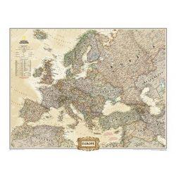 Európa falitérkép fóliázott antik National Geographic 117x92