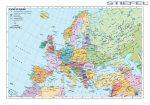 Európa falitérkép, Európa országai falitérkép fémléccel angol nyelvű 140x100