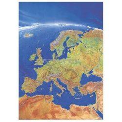 Európa falitérkép satelit 100 x 140 cm Európa panorámatérképe kézzel festett fóliás poszter