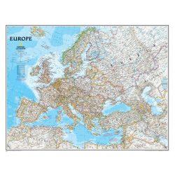 Kék színű Európa falitérkép National Geographic 117x92