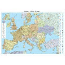 Európa országai falitérkép faléces Szarvas 1:3 750 000 125x85