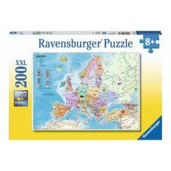 Európa térkép Puzzle Ravensburger 200 db  49 x 36 cm