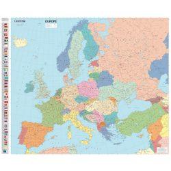 Európa falitérkép Michelin 1:4300 000  122x100 angol nyelvű