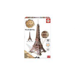 Eiffel-torony puzzle - 63 db-os 3D puzzle Educa fa puzzle