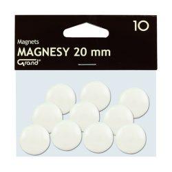 Mágneses jelölő táblamágnes 20 mm -es, kör alakú gombok - fehér