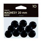 Mágneses jelölő táblamágnes 20 mm -es, kör alakú gombok - fekete