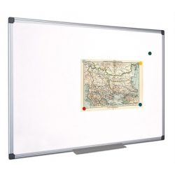 Mágnestábla 45x60 cm aluminium kerettel, alukeretes törölhető mágneses tábla 60x45 cm  Fehértábla, mágneses