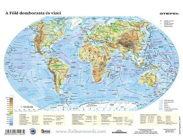 domborzati térkép föld A Föld domborzata és vizei iskolai lap Stiefel A/4   Térkép Center  domborzati térkép föld