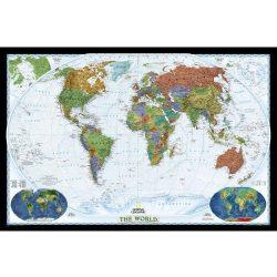 Világ országai falitérkép dekoratív poszter National Geographic angol nyelven 117x76