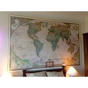 Világ országai falitérkép keretezett antikolt National Geographic 186x126