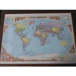A Föld országai keretes falitérkép Nyír-Karta  70x50 cm