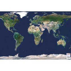 Világ műhold felvétel falitérkép, könyöklő Stiefel 68x49 cm