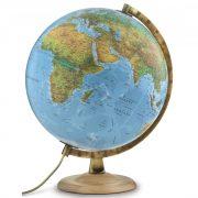 Világító földgömb fatalpas 30 cm kétfunkciós, Nova Rico világítós földgömb