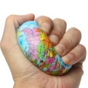 Földgömb labda szivacs labda földgömb 8 cm