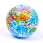 Földgömb labda szivacs labda földgömb 10 cm