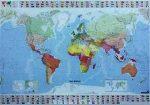 A Világ országai fóliázott falitérkép Michelin 144x100