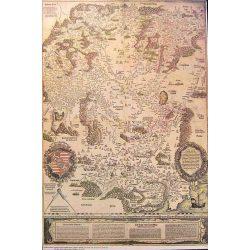 Lázár Deák 1. Magyarország térkép 1528.év, fóliás falitérkép Topomap 66x88,5
