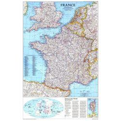 Franciaország falitérkép National Geographic  1:1953000   59x77cm