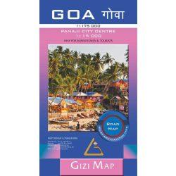 Goa térkép Gizi Map, Goa Road map, Goa autós térkép 1:175 000  2020