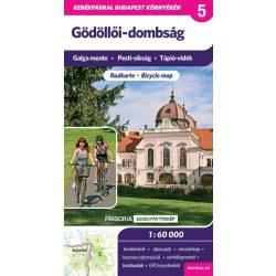 Gödöllői-dombság kerékpáros térkép Frigória 2017 1:60 000