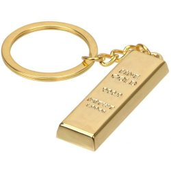 Aranyrúd kulcstartó gravírozható, aranytömb kulcstartó