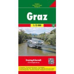 Graz térkép Freytag & Berndt 1:15 000  2012 keményfedeles