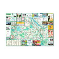 Győr-Moson-Sopron megye térkép Térképház 2002 1:150 000