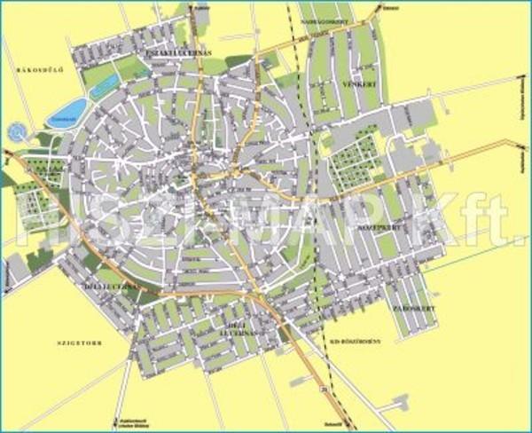 hajdúböszörmény térkép Hajdúböszörmény térkép Térképház   Térkép Center Kft. Budai