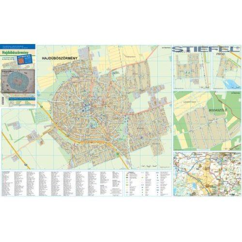 hajdúböszörmény térkép Hajdúböszörmény térkép 1:10 500 Stiefel 2012   Térkép Center Kft