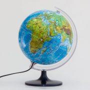 Világító földgömb 25 cm, duó, kétfunkciós, Belma magyar világítós gömb