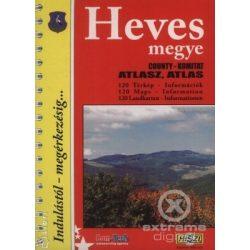 Heves megye atlasz HiSzi Map