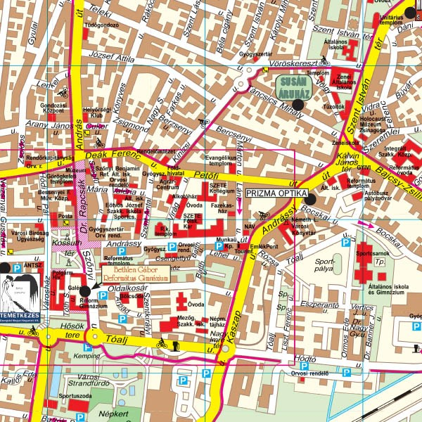vásárhely térkép Hódmezővásárhely térkép, Hódmezővásárhely várostérkép Térképház