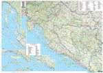 Horvátország falitérkép, Horvátország térkép
