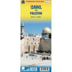 Izrael térkép ITM 2011 1:225 000