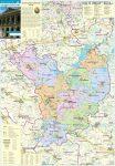 Jász-Nagykun-Szolnok megye járástérkép fémléces, fóliázott falitérkép 70 x 100 cm