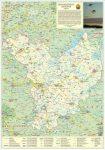 Jász-Nagykun-Szolnok megye fémléces, fóliázott falitérkép  Stiefel 70 x 100 cm