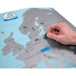 Európa kaparós térkép, kaparós Európa térkép 55 x 43,5 cm angol nyelvű