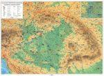 Magyar történeti emlékek a Kárpát-Medencében térkép, Kárpát-medence falitérkép kétoldalas
