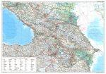 Kaukázus autós falitérkép Gizi Map 1:1 000 000