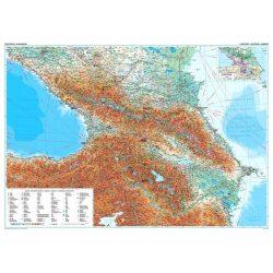 Kaukázus domborzati falitérkép Gizi Map 1:1 000 000