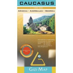 Kaukázus térkép Gizi Map domborzati 1:1 000 000