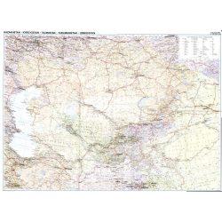 Kazahsztán politikai falitérkép Gizi Map 1:3 000 000