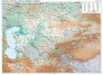 Kazahsztán domborzati falitérkép Gizi Map 1:3 000 000