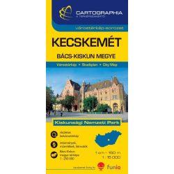 Bács-Kiskun megye, Kecskemét térkép Cartographia 1:250 000