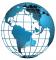 Politikai színezésű földgömb országokkal 10 cm